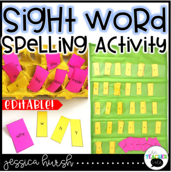 Egg Carton Sight Word Spelling Freebie