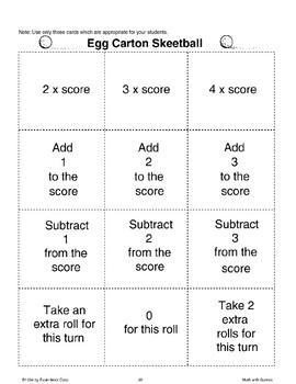 Egg Carton Skeetball (Math Games)