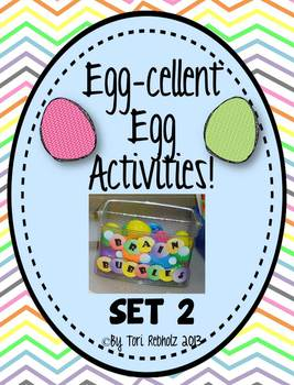 Egg-Cellent Activities! SET 2 {independent early finisher activities}