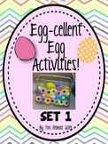 Egg-Cellent Activities! Set 1 {independent early finisher activities}