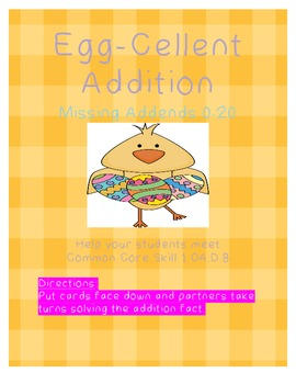 Egg-Cellent Addition-Missing Addend 0-20