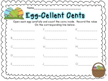 Egg-Cellent Coins - an Easter Egg & Coin Counting Activity