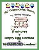 Centers: Egg-Cellent Egg Carton Games