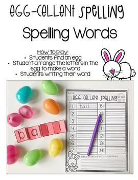 Egg-Cellent Spelling {Easter Egg Spelling Centers}
