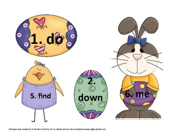 Egg-Citing Easter Sight Word Center Activites