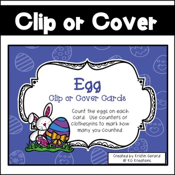 Egg Clip or Cover Counting Cards