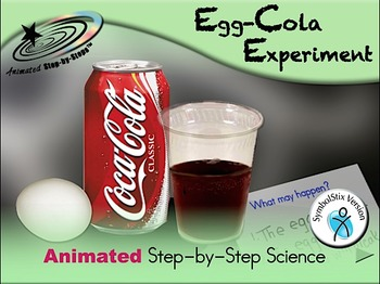 Egg-Cola Experiment - Animated Step-by-Step Science SymbolStix