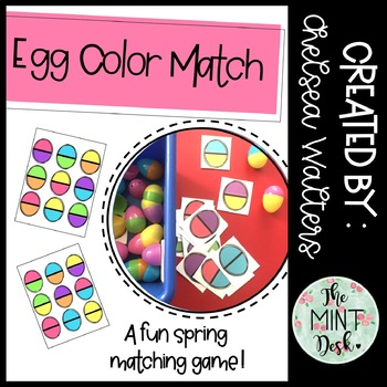 Egg Color Match Spring Activity
