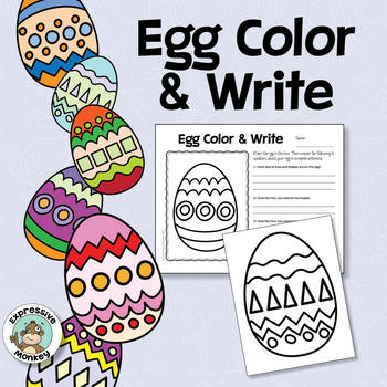 Egg Coloring Sheets