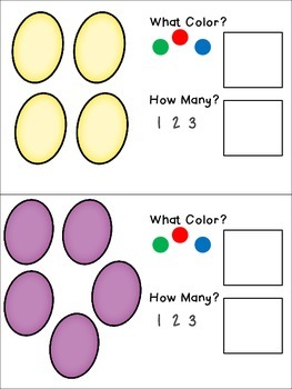 Egg Colors and Counting Adapted Book Freebie