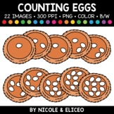 Spring Nest Egg Counting Clipart