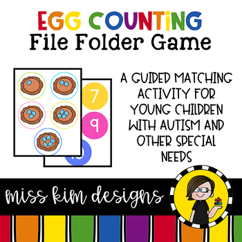 Egg Counting File Folder Game for Special Education