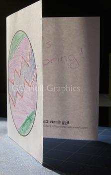 Egg Craft Card Template PDF