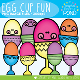 Egg Cup Fun - Easter Clipart