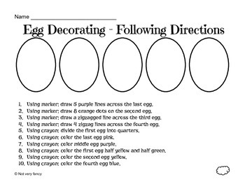 Egg Decorating -- Following directions
