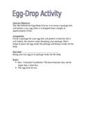 Egg Drop Activity Description & Parent Letter