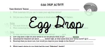 Egg Drop Assessment