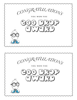 Egg Drop Award