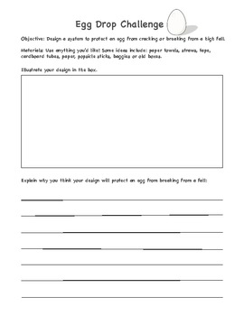 egg drop challenge planning sheet by buggyandbuddy tpt. Black Bedroom Furniture Sets. Home Design Ideas