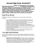 Egg Drop Contest Rules