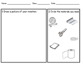 Egg Drop. Invention Worksheet Planner