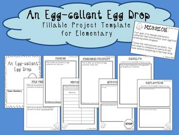 egg drop project outline by caitlin howald teachers pay teachers. Black Bedroom Furniture Sets. Home Design Ideas