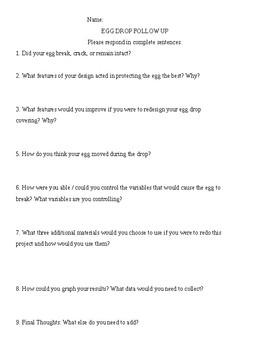 Egg Drop Questions