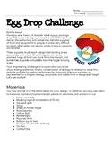 Egg Drop - STEM Challenge - Engineer Design Process