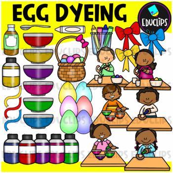Egg Dyeing Clip Art Bundle {Educlips Clipart}