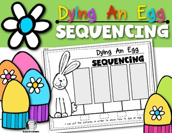 Egg Dying Sequence Activity for Easter or Spring Time