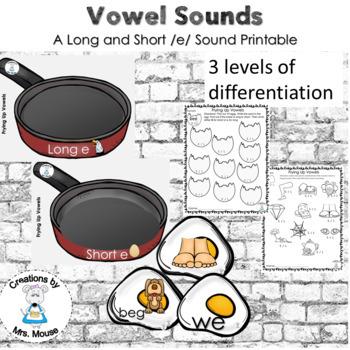 Phonics-Vowels - Frying Up Vowels (Long & Short e)