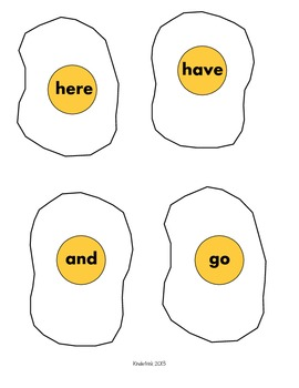 Egg Flip Sight Word Center