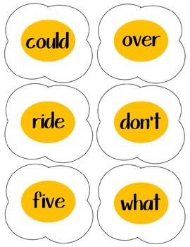 Egg Flip Word Work