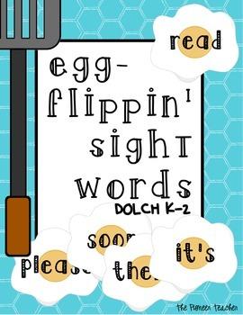 Egg Flippin' Sight Words