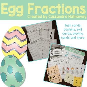 Egg Fractions Math Centers