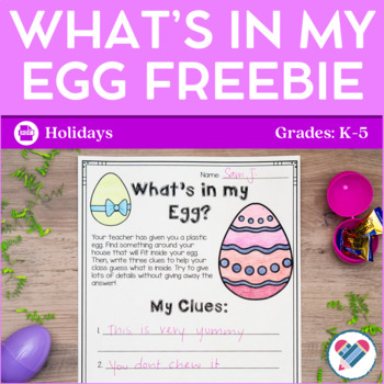 What's In My Egg FREEBIE