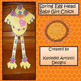 Spring Easter Egg Head Chick Craft