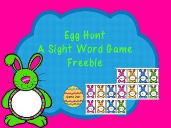 Egg Hunt - A Sight Word Game -Freebie