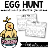 Egg Hunt {Addition and Subtraction Practice}