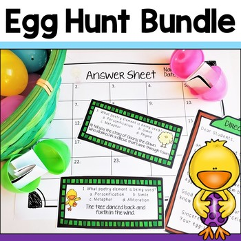 Adding and Subtracting Fractions & Poetry Egg Hunt Bundle