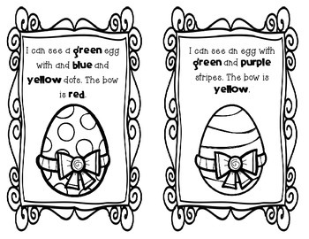 Egg Hunt Color Identification Activity Booklet