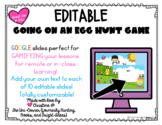 Egg Hunt Editable Google Slides Game Easter/Spring   Dista