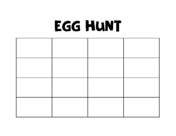 Egg Hunt Graphic Organizer
