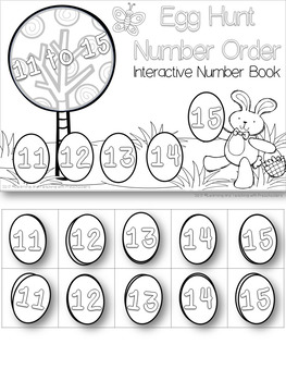 Egg Hunt Number Interactive Book