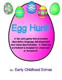 Egg Hunt Pre-K Descriptive Language and Visual Discrimination Game