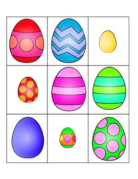 Egg Hunt Pre-K Descriptive Language and Visual Discrimination Game