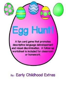 Egg Hunt Pre-K Descriptive Language and Visual Discriminat