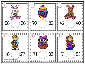 Egg Hunt Scoot {greater & less than}