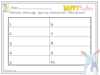 Sight Word Games-Easter