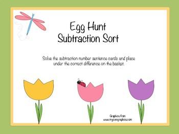 Egg Hunt Subtraction Sort